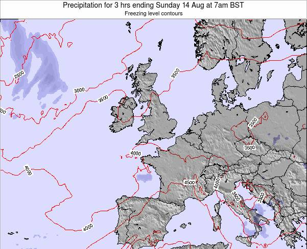 Ireland Precipitation for 3 hrs ending Thursday 24 Apr at 1pm BST map