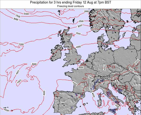 Ireland Precipitation for 3 hrs ending Wednesday 29 May at 7pm BST map