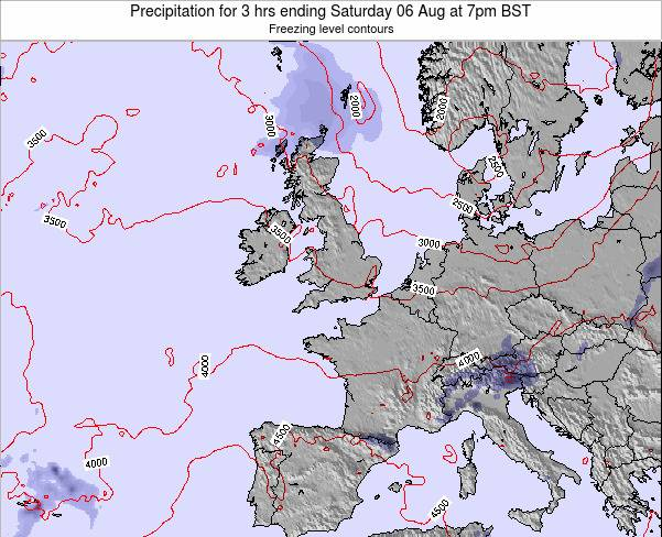 Ireland Precipitation for 3 hrs ending Tuesday 21 May at 1pm BST map