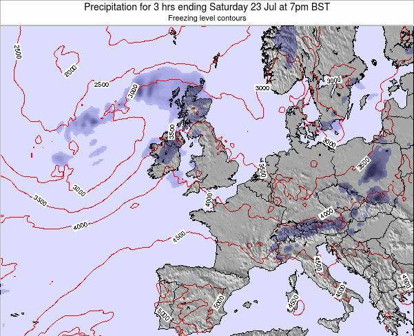 Ireland Precipitation for 3 hrs ending Sunday 29 Mar at 1am BST