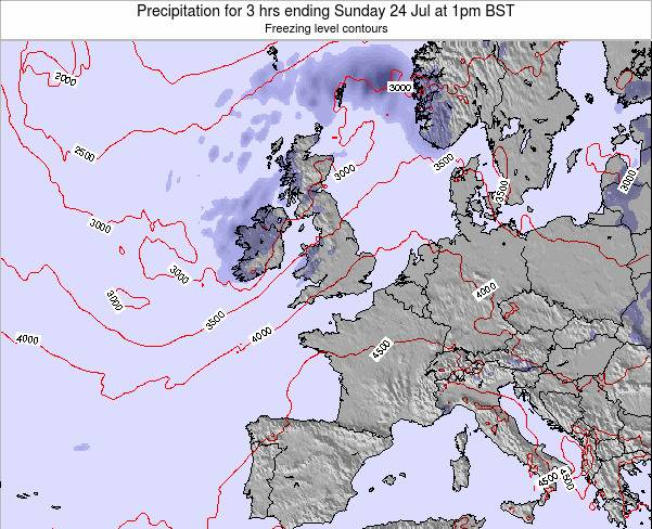 Ireland Precipitation for 3 hrs ending Sunday 19 May at 1pm BST