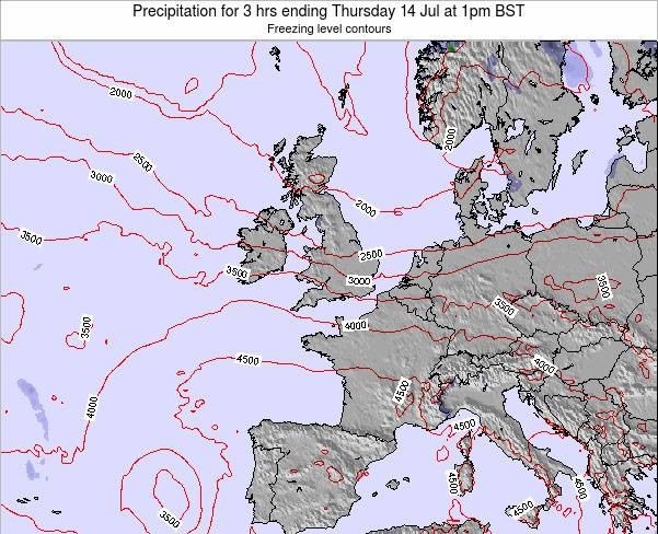 Ireland Precipitation for 3 hrs ending Wednesday 23 Apr at 7am BST