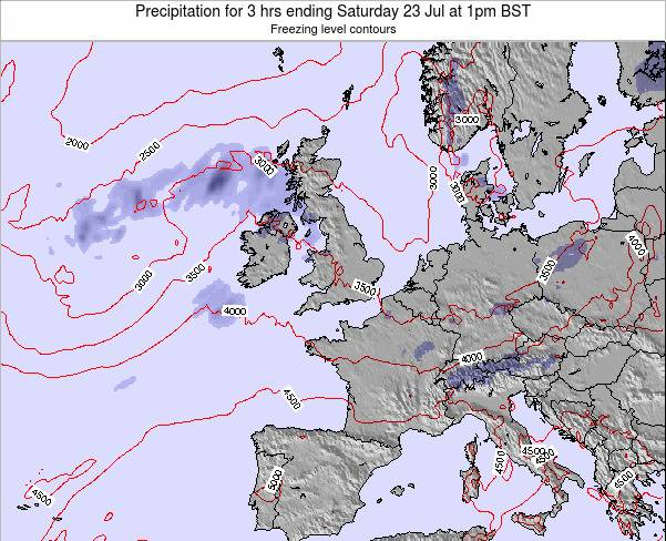 Ireland Precipitation for 3 hrs ending Thursday 05 Dec at 12am GMT