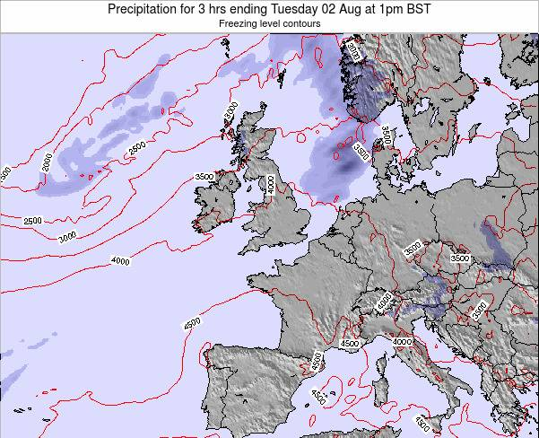 United Kingdom Precipitation for 3 hrs ending Saturday 18 May at 1pm BST