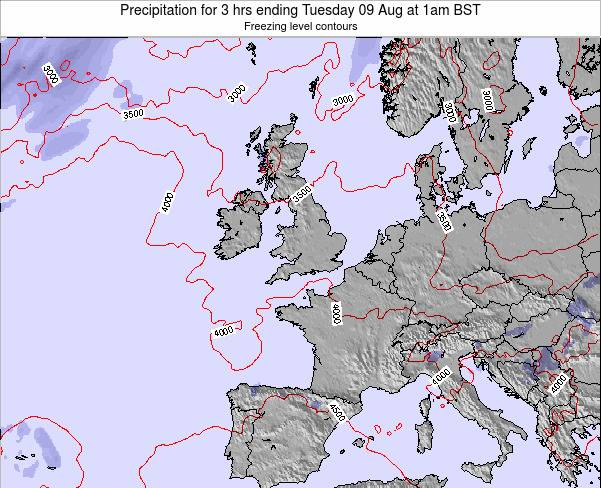 Ireland Precipitation for 3 hrs ending Tuesday 11 Mar at 6am GMT map