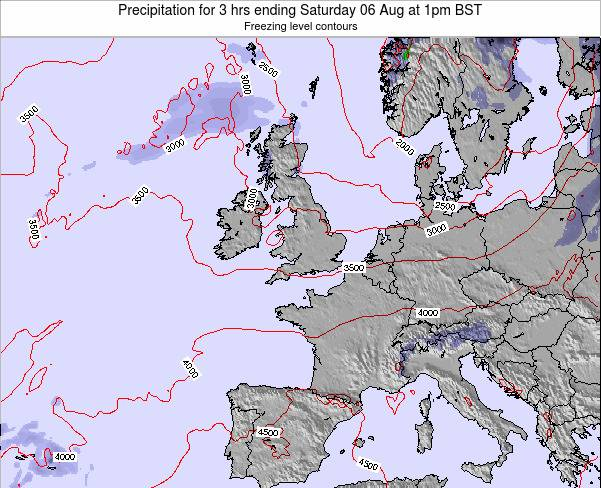 Ireland Precipitation for 3 hrs ending Friday 24 May at 1am BST map