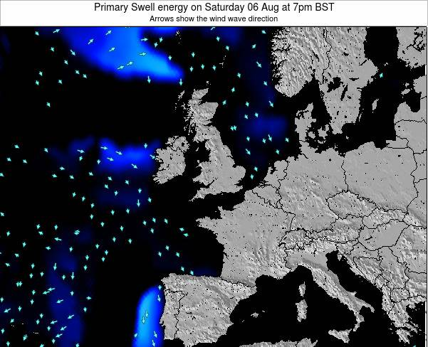 Ireland Primary Swell energy on Friday 25 Apr at 1am BST