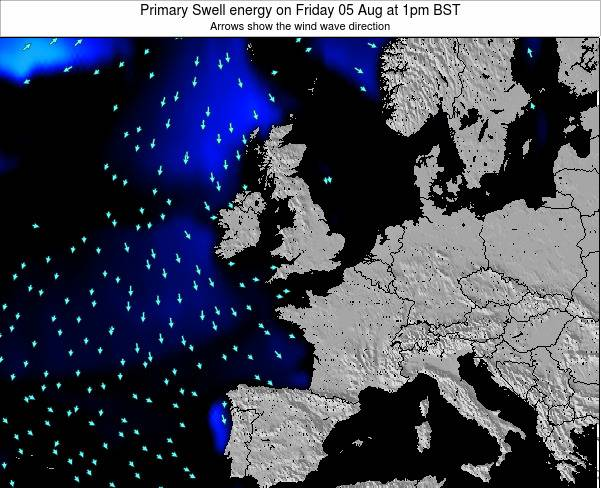 Ireland Primary Swell energy on Sunday 16 Mar at 6am GMT