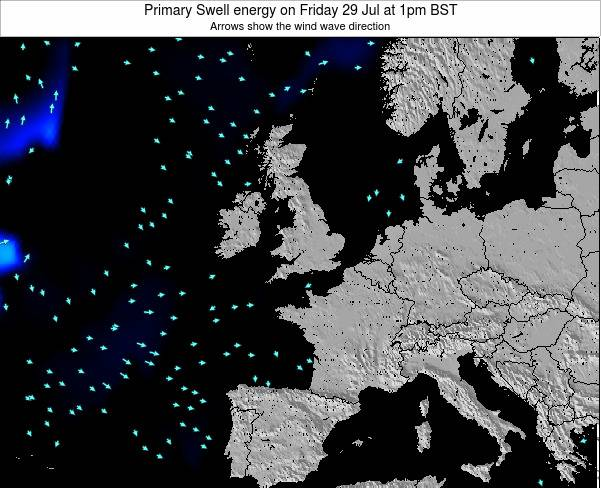 United Kingdom Primary Swell energy on Thursday 04 Jun at 1pm BST