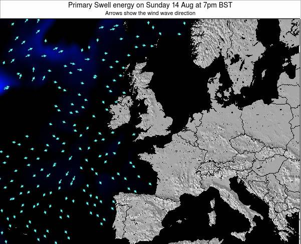 Ireland Primary Swell energy on Saturday 04 Apr at 7am BST