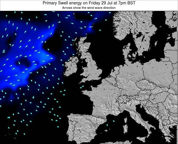 Ireland Primary Swell energy on Sunday 02 Oct at 1am BST