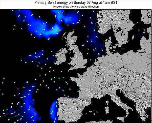 Faroe Islands Primary Swell energy on Saturday 30 May at 7am BST