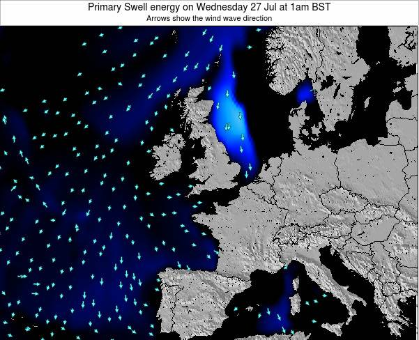 Ireland Primary Swell energy on Friday 03 Apr at 1pm BST