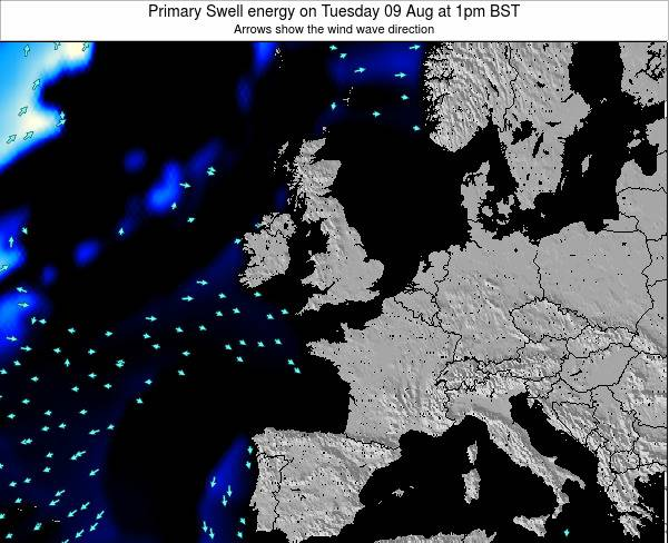 Ireland Primary Swell energy on Wednesday 23 Apr at 7am BST