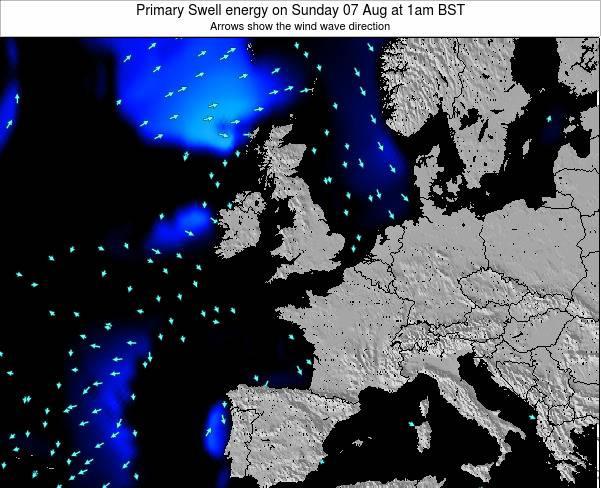 Faroe Islands Primary Swell energy on Friday 13 Dec at 6am GMT