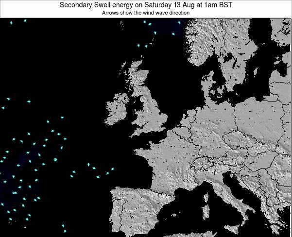 Guernsey Secondary Swell energy on Wednesday 29 May at 7am BST