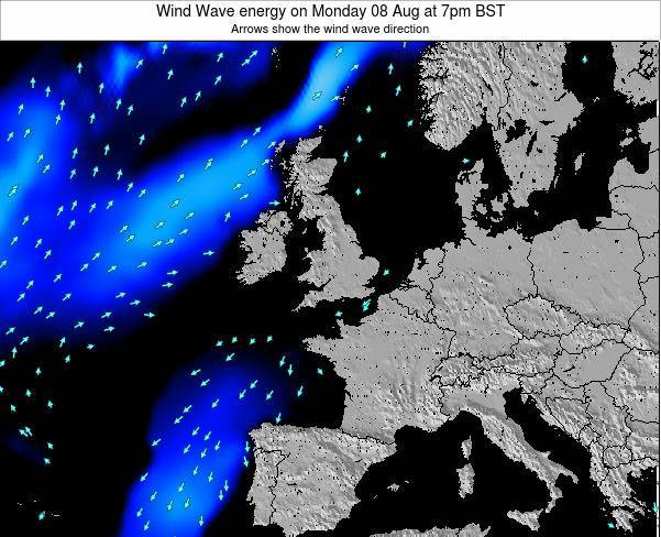 Faroe Islands Wind Wave energy on Tuesday 25 Jun at 7am BST