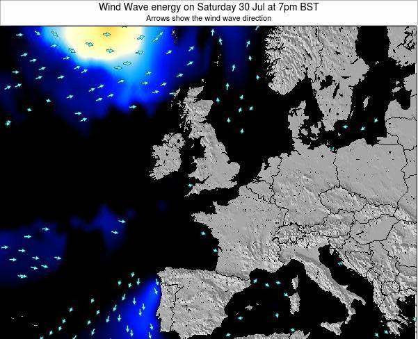 Faroe Islands Wind Wave energy on Tuesday 28 May at 1am BST