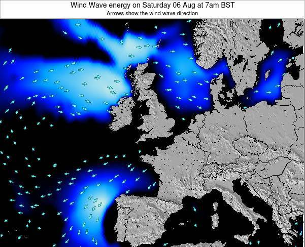 Faroe Islands Wind Wave energy on Sunday 03 Aug at 1am BST