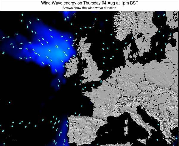 Faroe Islands Wind Wave energy on Friday 19 Dec at 12pm GMT
