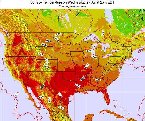 United States Surface Temperature on Saturday 07 Dec at 1am EST
