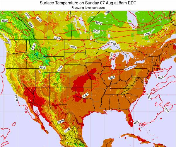 Weather Map United States Temperature Intellicast 500mb Upper Air