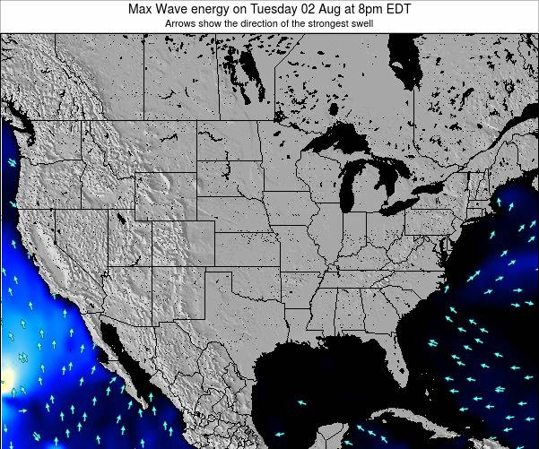 United States Max Wave energy on Saturday 14 Dec at 7am EST