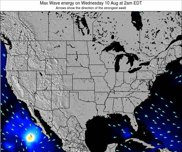 United States Max Wave energy on Friday 14 Mar at 2pm EDT