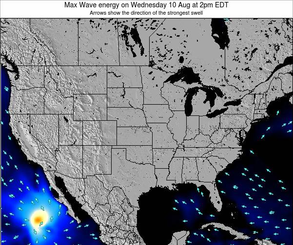 United States Max Wave energy on Monday 28 Jul at 8am EDT