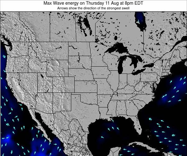 United States Max Wave energy on Saturday 22 Jun at 2pm EDT
