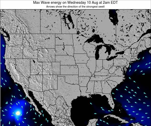 United States Max Wave energy on Thursday 24 Jul at 2pm EDT