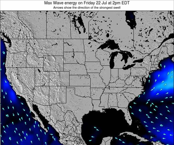 United States Max Wave energy on Monday 21 Apr at 2am EDT