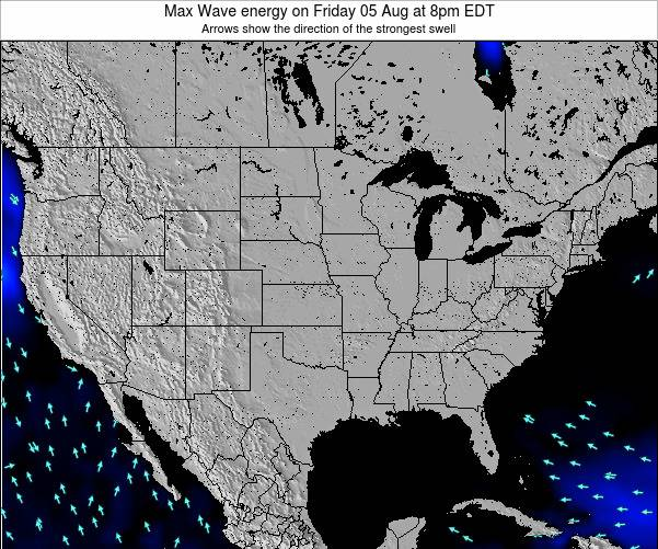 United States Max Wave energy on Saturday 18 May at 8pm EDT