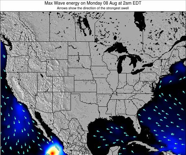 United States Max Wave energy on Friday 28 Oct at 2am EDT