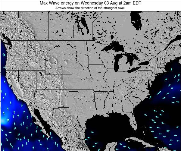 United States Max Wave energy on Friday 21 Jun at 8pm EDT