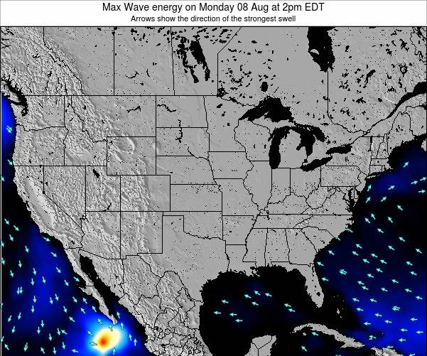 United States Max Wave energy on Monday 27 Mar at 8pm EDT