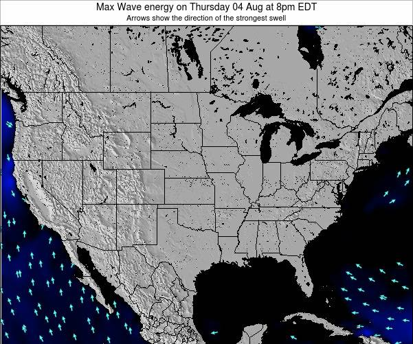 United States Max Wave energy on Saturday 19 Apr at 2am EDT