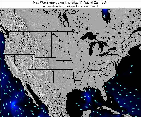 United States Max Wave energy on Friday 01 Jul at 2pm EDT