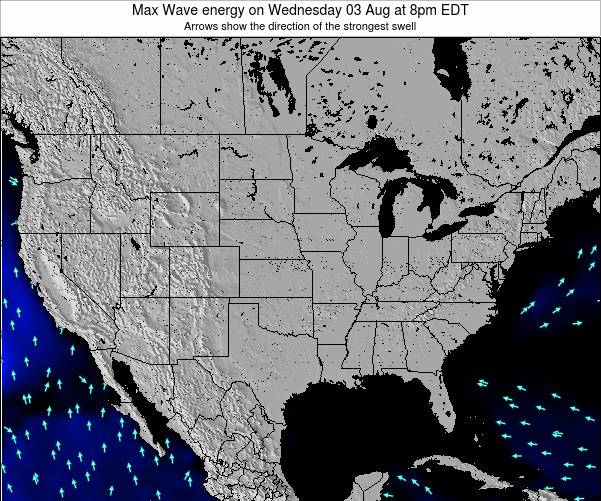 United States Max Wave energy on Tuesday 28 May at 2pm EDT