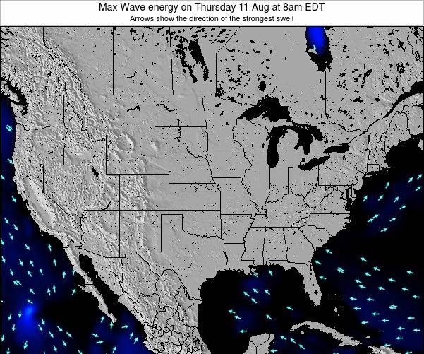 United States Max Wave energy on Thursday 13 Mar at 2am EDT