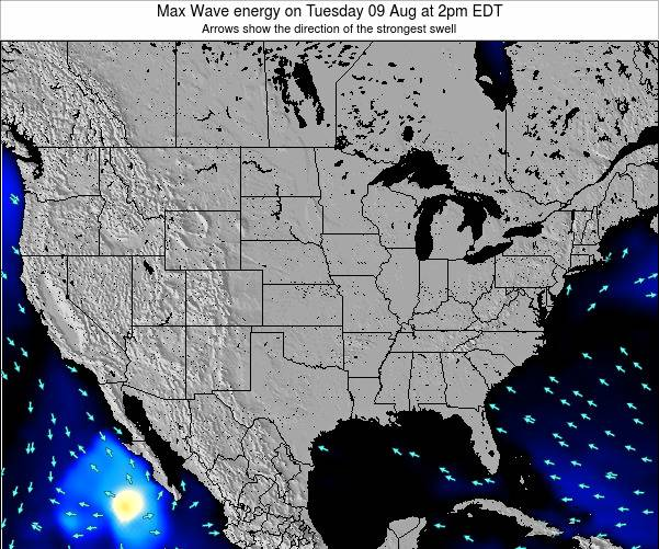 United States Max Wave energy on Saturday 26 Jul at 2pm EDT