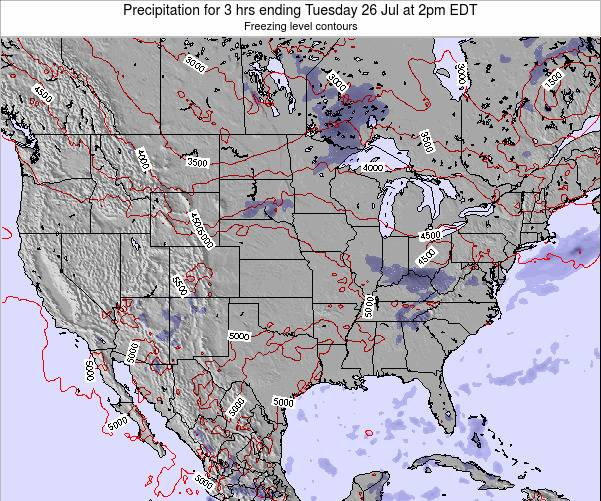 United States Precipitation for 3 hrs ending Thursday 30 May at 2am EDT map