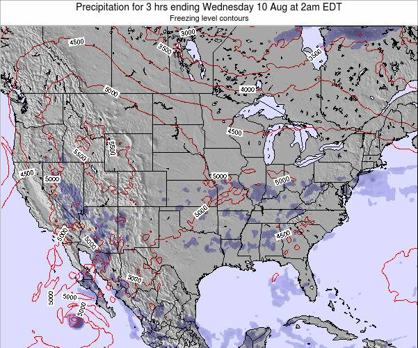 United States Precipitation for 3 hrs ending Sunday 23 Jun at 8am EDT