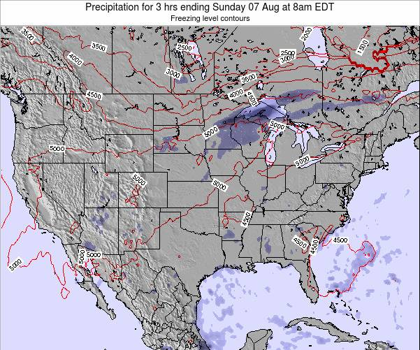 United States Precipitation for 3 hrs ending Sunday 26 May at 8pm EDT map