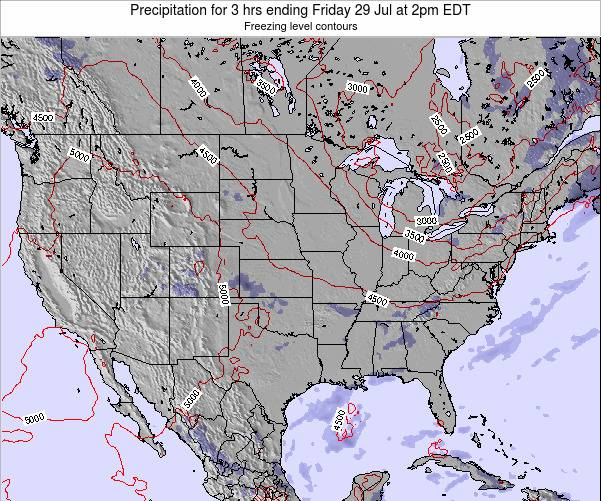United States Precipitation for 3 hrs ending Tuesday 28 May at 2pm EDT