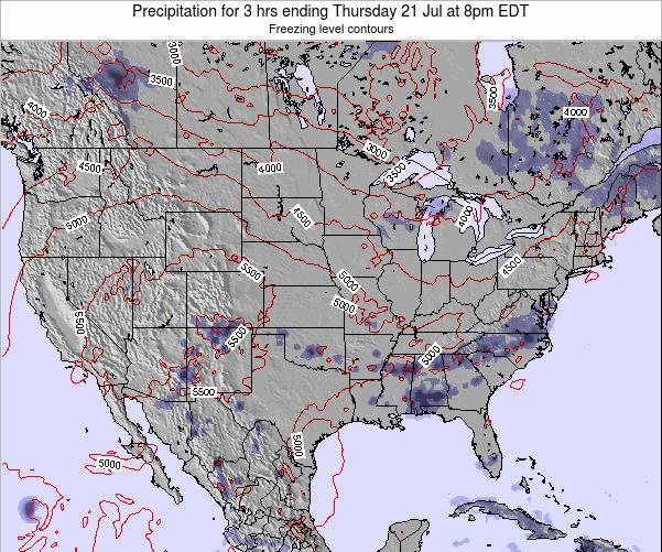 United States Precipitation for 3 hrs ending Wednesday 29 May at 8am EDT map