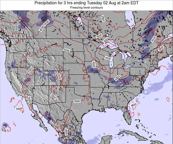 United States Precipitation for 3 hrs ending Wednesday 22 May at 8am EDT