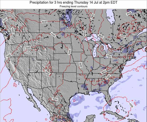 United States Precipitation for 3 hrs ending Thursday 23 May at 2pm EDT map