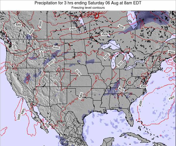 United States Precipitation for 3 hrs ending Wednesday 22 May at 8am EDT map