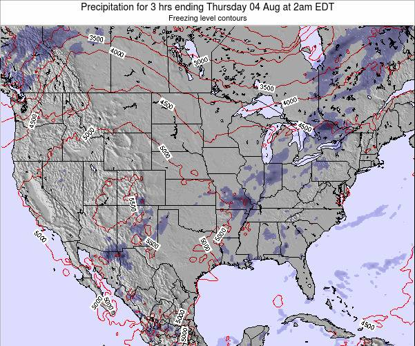 United States Precipitation for 3 hrs ending Saturday 26 Apr at 2pm EDT map